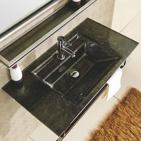 Ensemble vasque, miroir et tablette de bain Oxygen