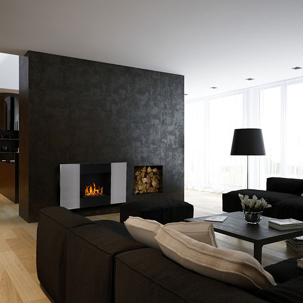 Foyer thanol verinox wikao maison et design - Bio ethanol cheminee ...