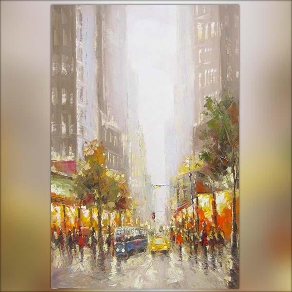 Peinture new york 120 x 80 cm - Idee peinture tableau ...