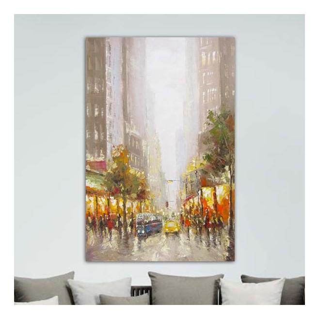 Decoration Cuisine Style Bistrot : Tableaux peinture > Tableau ville > Peinture New York