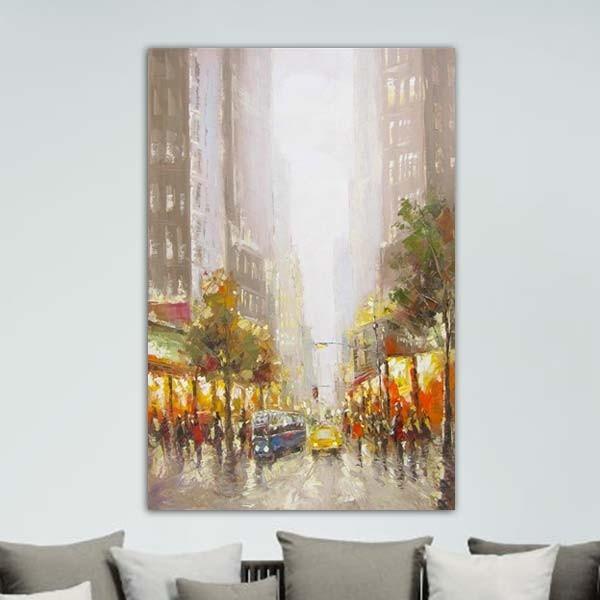 Tableau Salle De Bain Rouge : Tableaux peinture > Tableau ville > Peinture New York