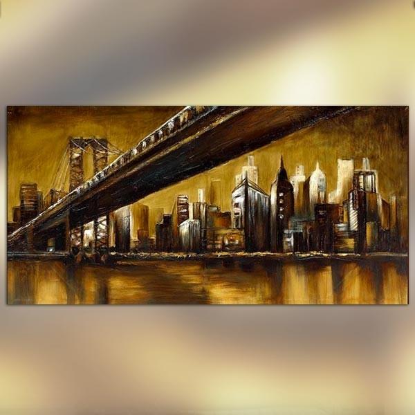 Tableau brooklyn 152 x 76 cm - Toile pont de brooklyn ...