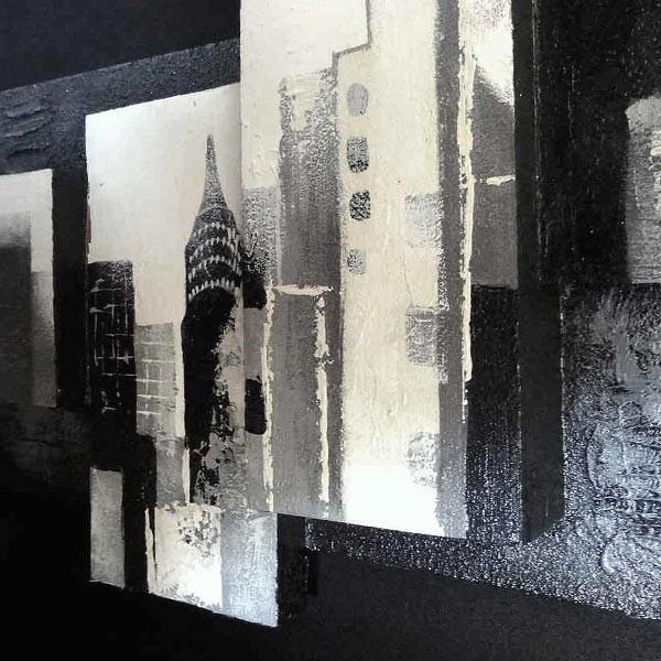Tableau 3d new york 160 x 50 cm - Tableau noir et blanc design ...