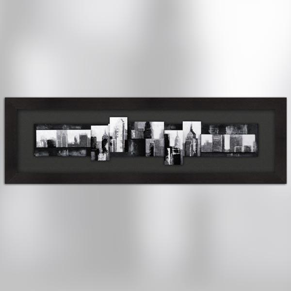 Tableau 3d new york 160 x 50 cm - Tableau new york noir et blanc ...
