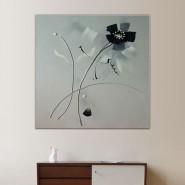 Calligraphie et fleur sur tableau