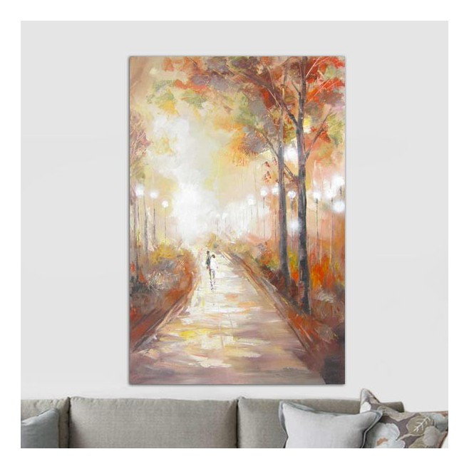 Peinture automne 80 x 120 cm - Peinture carre couleur ...