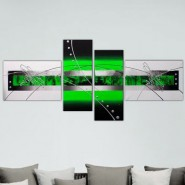 4 panneaux vert et noir