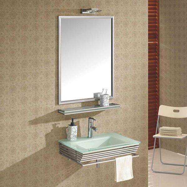 lavabo verre blanc infinity - Lavabo Salle De Bain En Verre