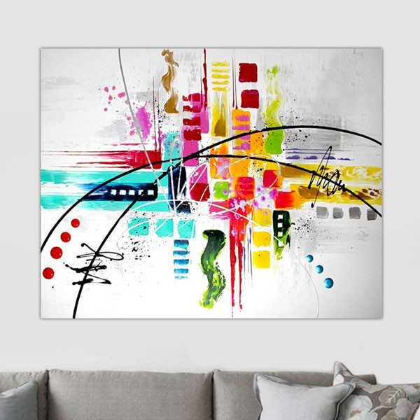 Tableau style moderne - Tableau art contemporain design decoration ...