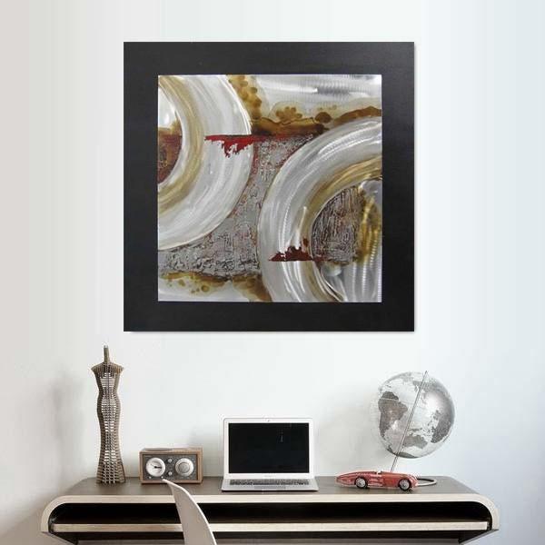 peinture motif circulaire et pâtine industrielle
