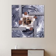 Peinture carré cuivre