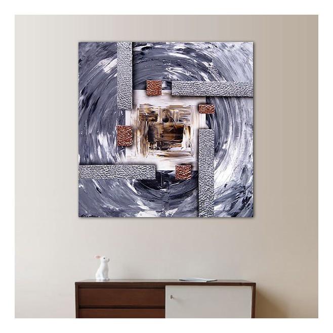 Peinture cuivr e carr 60x60 cm for Peinture radiateur couleur cuivre