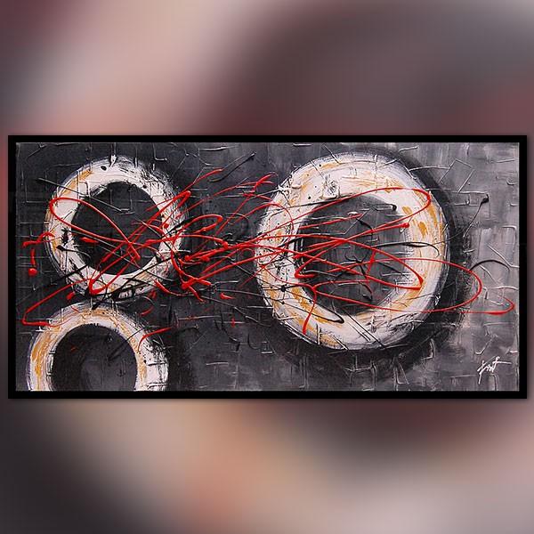 Tableau contemporain graphique 60x90 cm for Peinture graphique