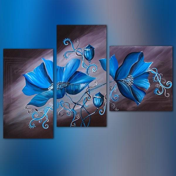 Tableau Floral 3 Panneaux