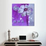 Peinture florale mauve