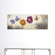 Tableau fleur et papillon