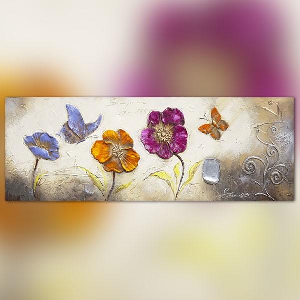 Tableau large fleurs et papillons - Image papillon et fleur ...