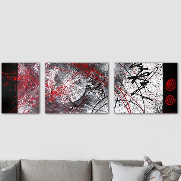 Tableau sur le theme du japon multipanneau - Tableau peinture triptyque ...