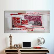 Peinture contemporaine rouge