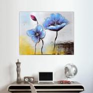 composition carrés fleurs modernes