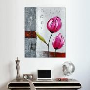 Peinture de tulipes roses