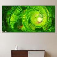 Composition spirale verte