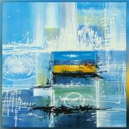 Paysage de bord de mer contemporain