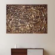 Peinture façon panneau bronze