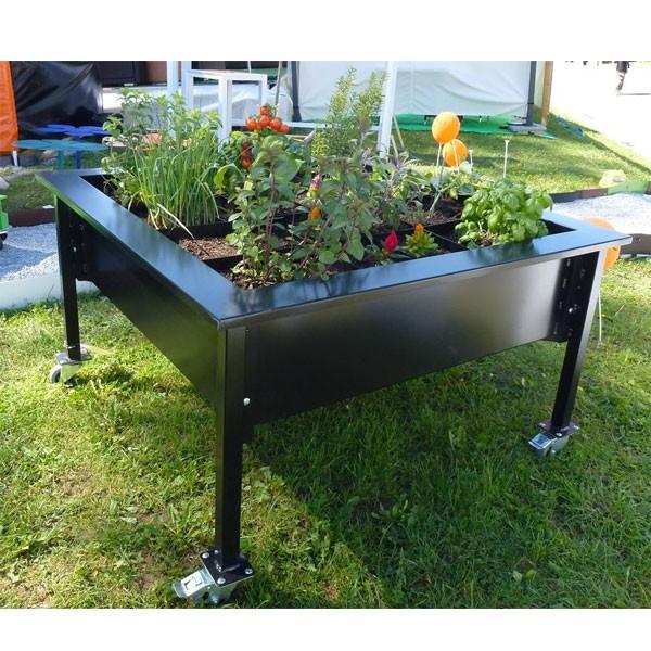 bac fleur g ant jardin suspendu square 120x120 cm. Black Bedroom Furniture Sets. Home Design Ideas
