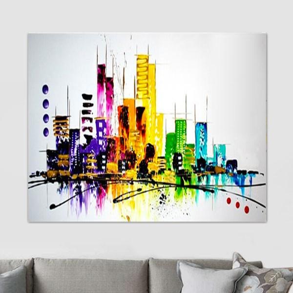 Peinture NY, les buildings