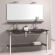 Meuble de salle de bain marron Aïda