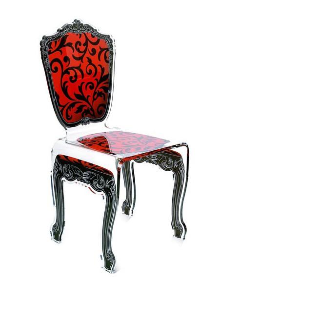 Chaise Transparente En Plexi Baroque