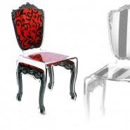 Chaise transparente Baroque