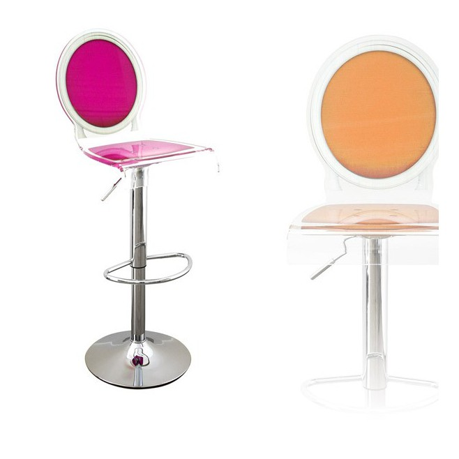 tabouret bar transparent sixteen - Chaise De Bar Transparente