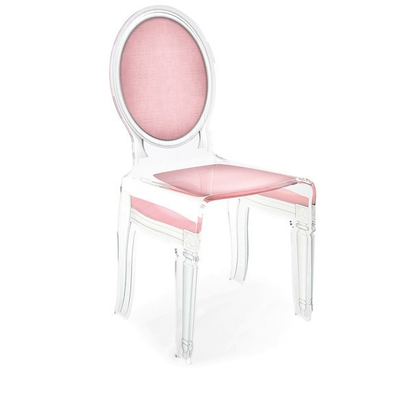 Fauteuil medaillon transparent - Chaise medaillon transparente ...