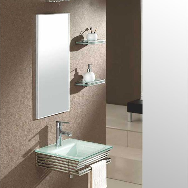 Meuble verre elegant jbb meuble hifi support tv verre et - Chaine hifi salle de bain ...