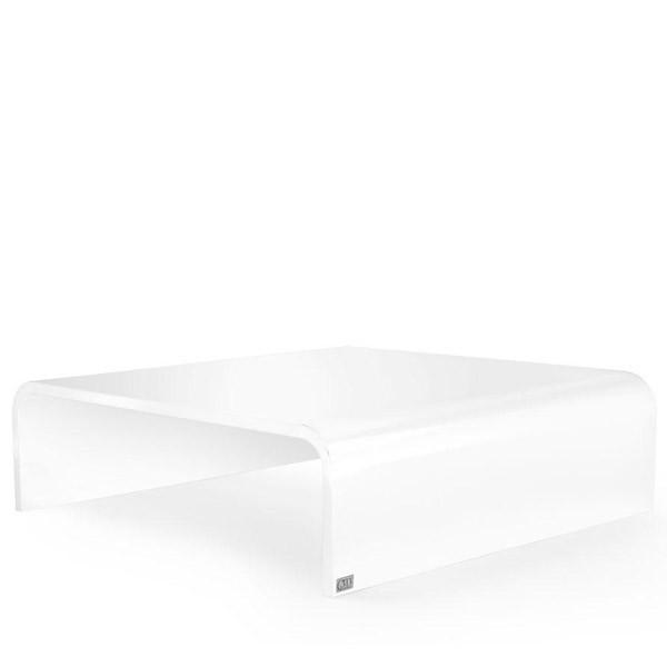 table basse carr angles arrondis halfy 120x112 cm. Black Bedroom Furniture Sets. Home Design Ideas