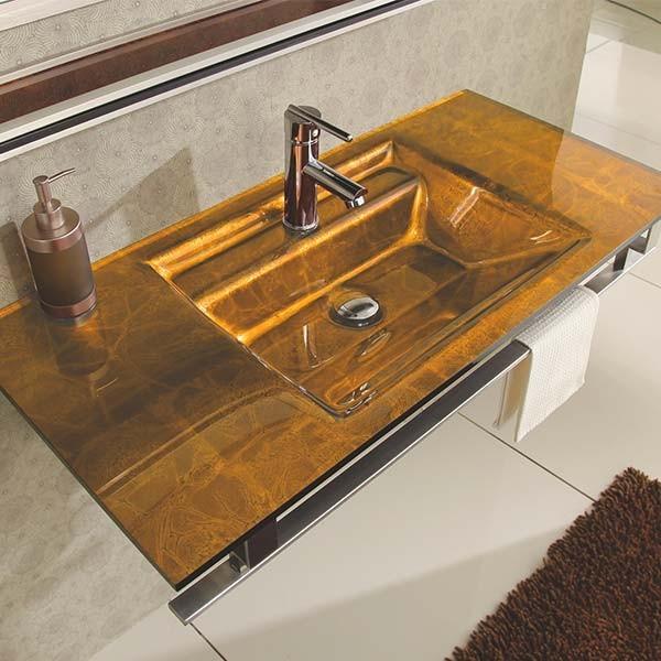 Lavabo verre arp ge et accessoires de salle de bain for Lavabo salle de bain rectangulaire