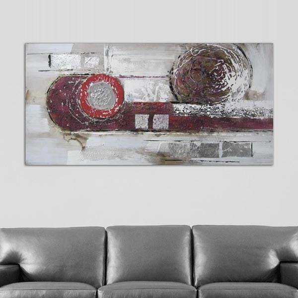 Peinture abstraite ellipse