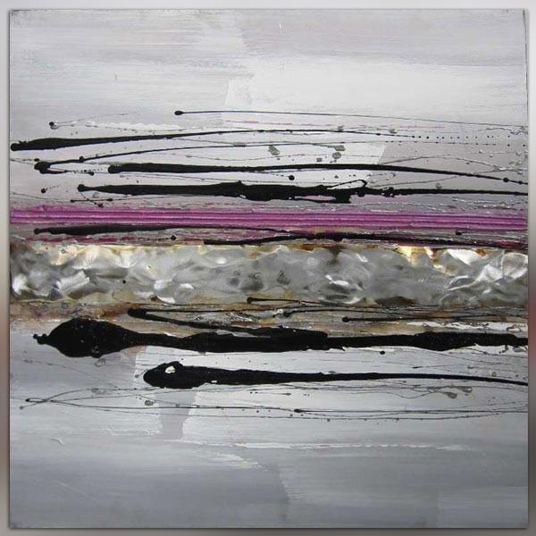 salle de bain noire et blanc tableaux peinture abstraite abstrait violet - Tableau Salle De Bain Noir Et Blanc
