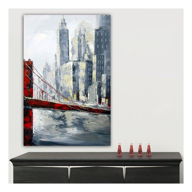 tableau urbain golden gate bridge 120 x 180. Black Bedroom Furniture Sets. Home Design Ideas