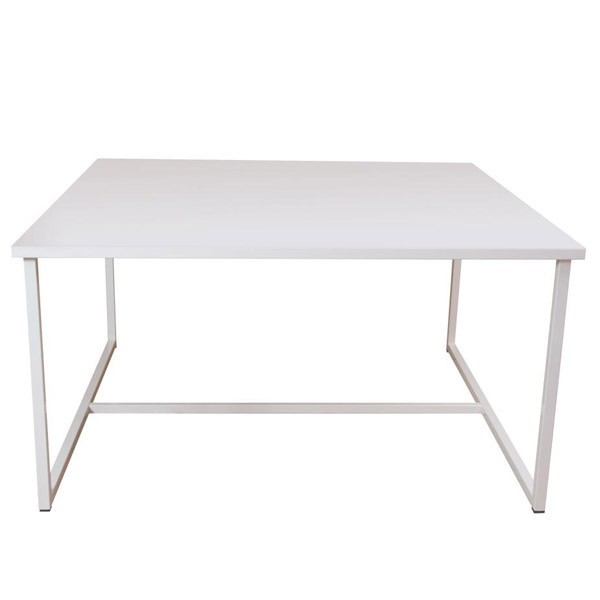 Table acier industrielle tube 140 x 140 x 73 for Table design industriel