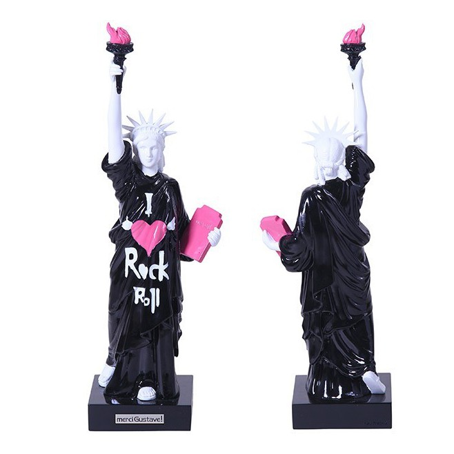 Statuette statue de la liberté Rock and Roll by Merci Gustave