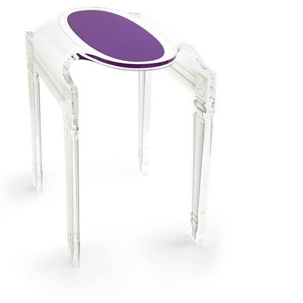 Table De Nuit Plexiglas chevet plexi transparent sixteenacrila