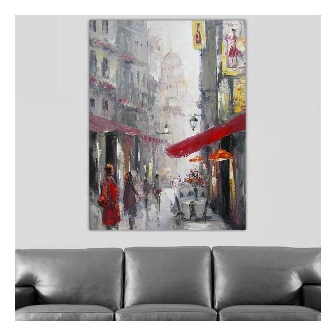 Tableau de ville paris sacr coeur 120 x 80 cm - Tableau paris londres new york ...