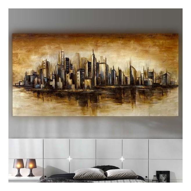 Peinture ny manhattan 153 x 77 x 5 cm - Tableau lumineux new york ...