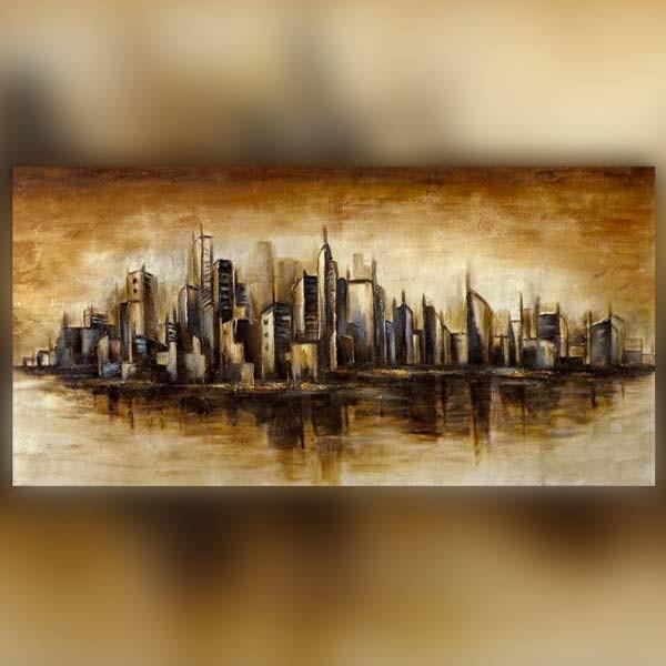 Peinture ny manhattan 153 x 77 x 5 cm - Tableau new york castorama ...