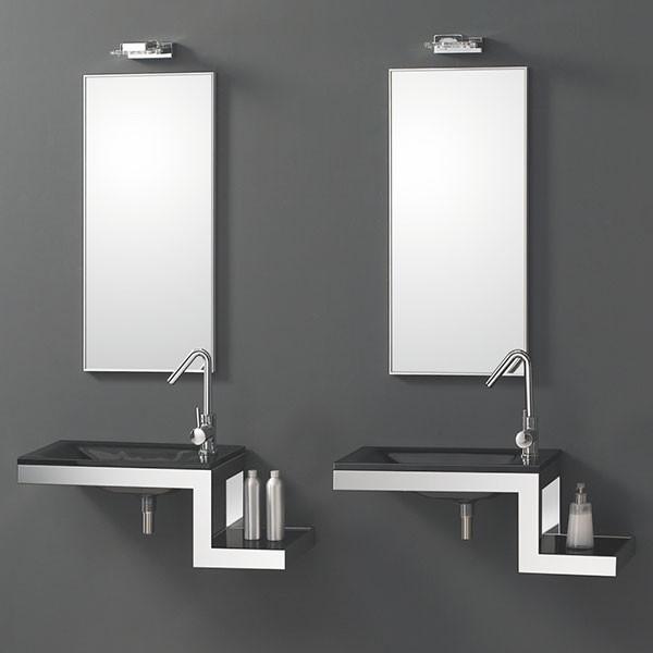 lavabo en verre tonic 750 x 280 mm. Black Bedroom Furniture Sets. Home Design Ideas