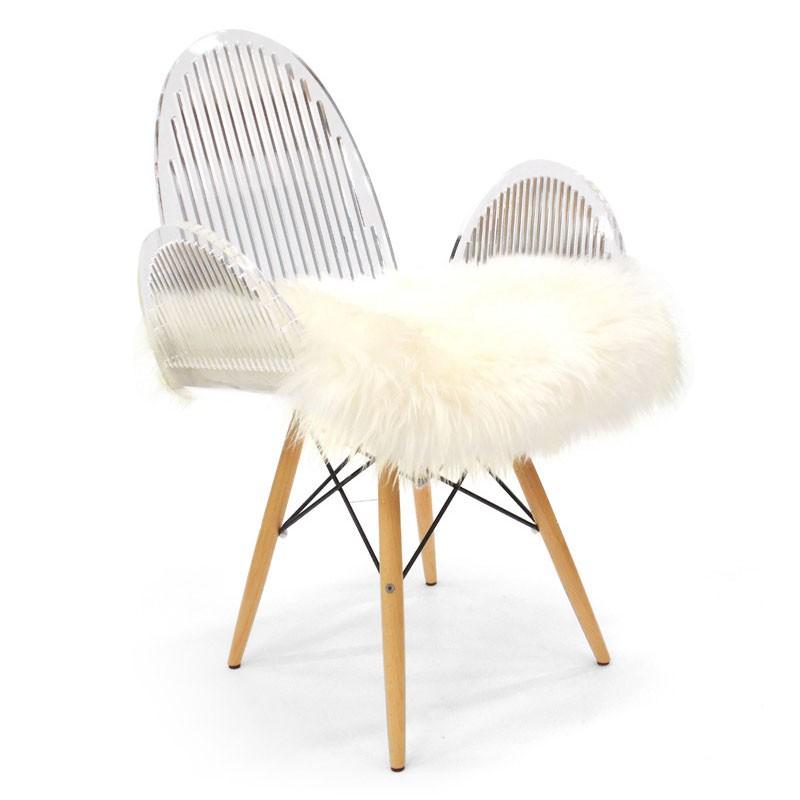 Chaise cali arrondie à barreaux
