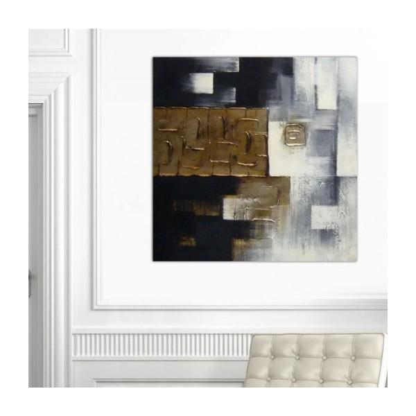 Abstrait graphique gris et or